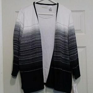 Alfred Dunner, 2 layer sweater top.